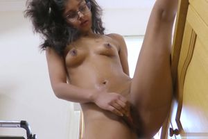 Pretty indian nubile in the kitchen