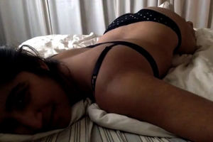 20yr elder Indian coed in lingerie on..